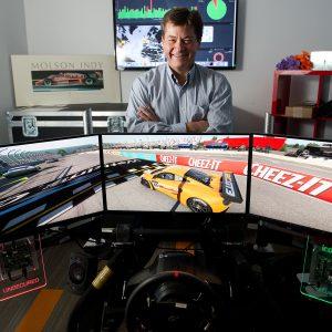 Jaco du Plooy, Irdeto's vice-president of engineering, seen with the company's Kanata simulator.